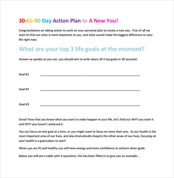 7 sample 30 60 90 day action plan templates sample templates sample 30 60 90 day action plan template friedricerecipe
