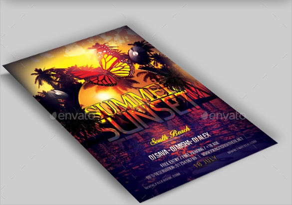 crazy summer flyer template1