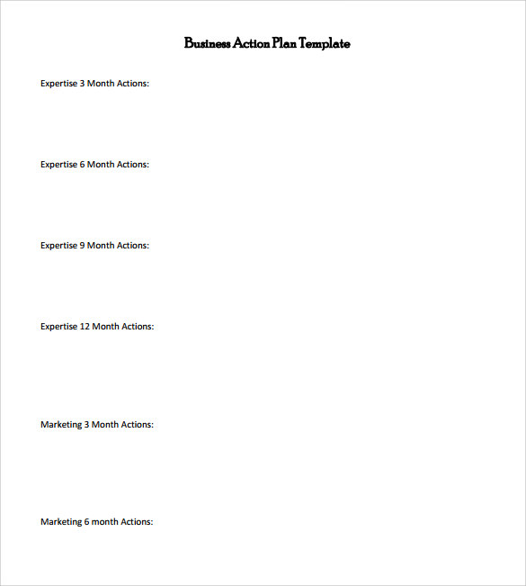 Awesome Sample Business Action Plan Template Images - Best Resume