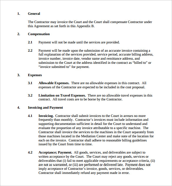 Maintenance Contract Template 20 Download Documents In