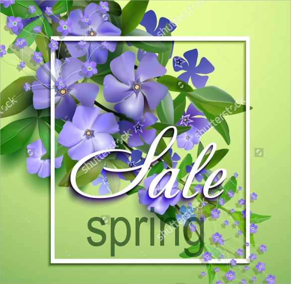 good spring flyer template