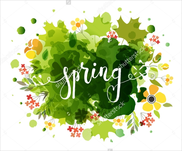 spring flyer template simple