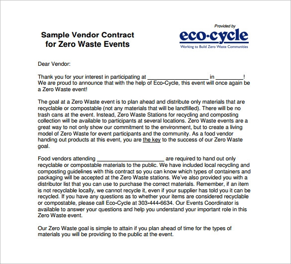 Vendor Contract Agreementhtml Vendor Contract Free Printable – Food Vendor Contract