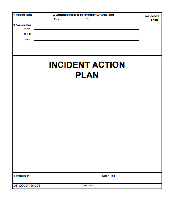 Incident Action Plan Template - 9+ Download Documents in PDF | Sample ...