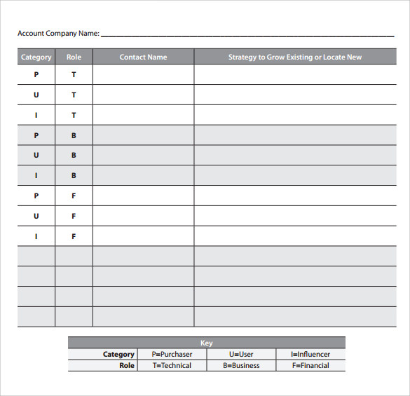 Great Sample Free Sales Action Plan Template
