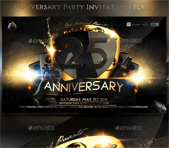anniversary party invitations flyer1