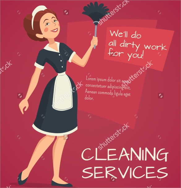 cleaning service advertisement flyer