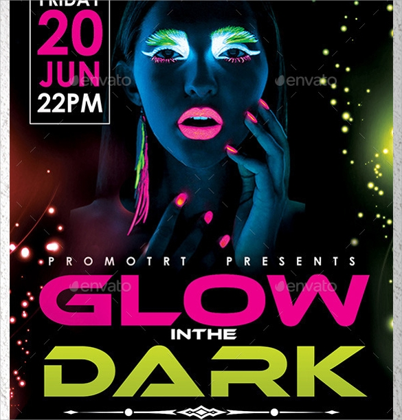 glow in the dark flyer template1