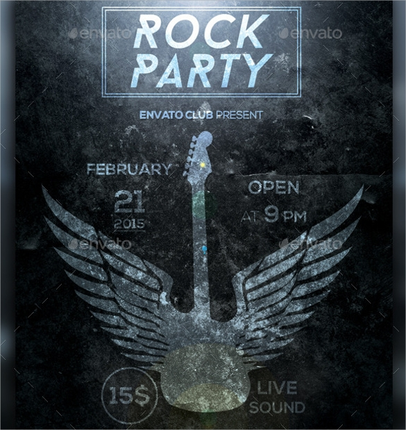 rock party dark flyer1
