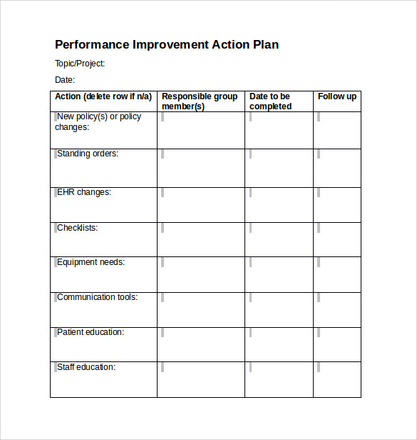 Sample Project Action Plan Template   Documents In Pdf  Word
