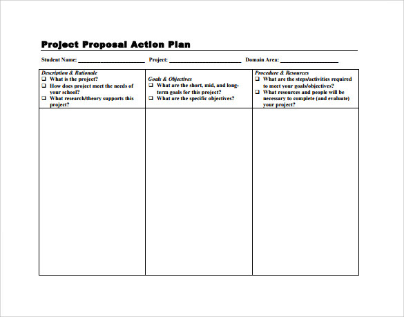 Captivating Project Proposal Action Plan Template  Project Action Plan Template Word