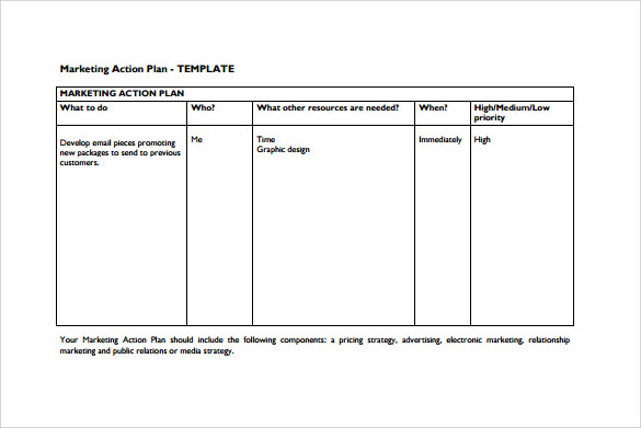 Sample Marketing Action Plan Template 8 Documents in PDF – Example Action Plan Template