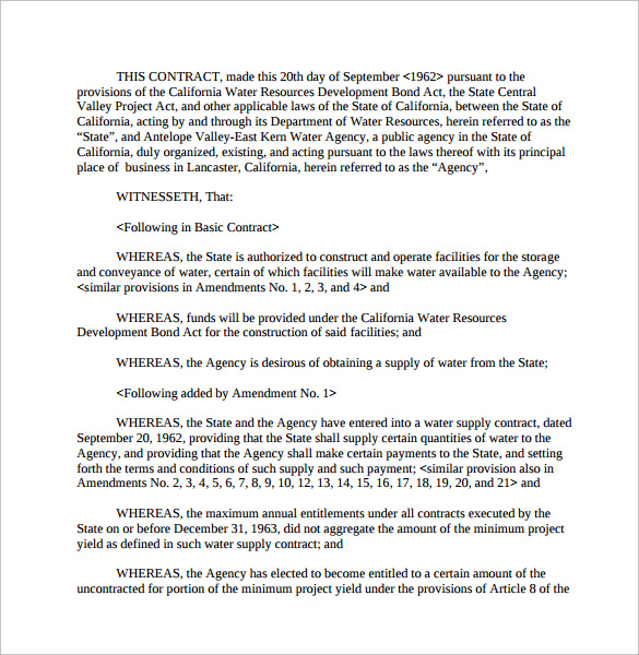 Doc460595 Supplier Contract Template Supply Agreement – Supplier Contract Template