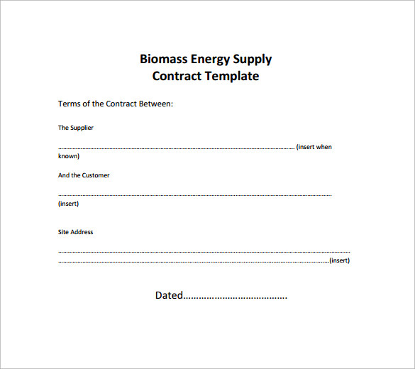Doc460595 Supplier Contract Template Supply Agreement – Vendor Contract Template