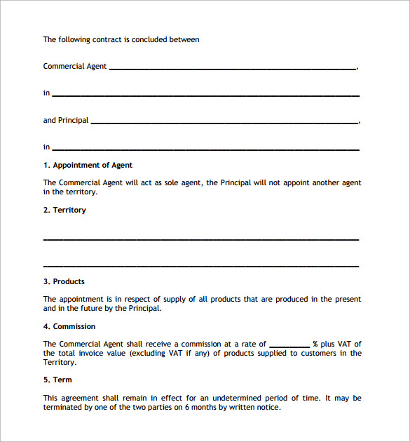 Agency Contract Template   Download Free Documents In Pdf Word