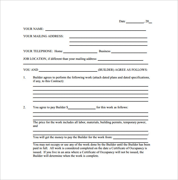 Remodeling Contract Template - 8+ Download Free Documents In Pdf, Word