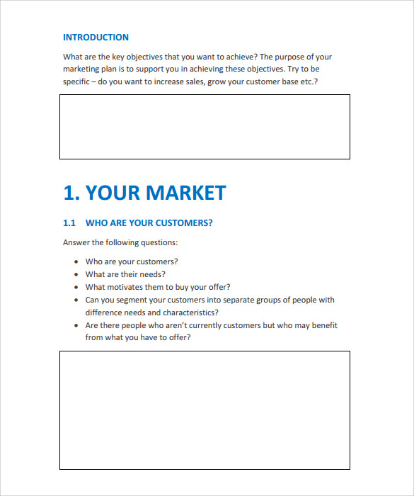 15 marketing action plan templates to download for free sample simple marketing action plan template flashek Image collections