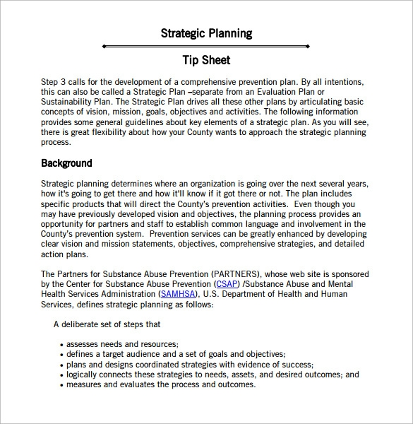 10 Sample Strategic Action Plans Sample Templates