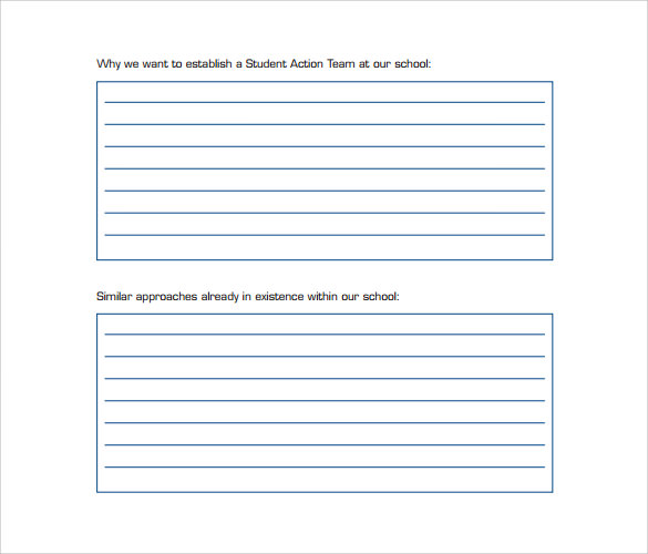 student academic action plan template