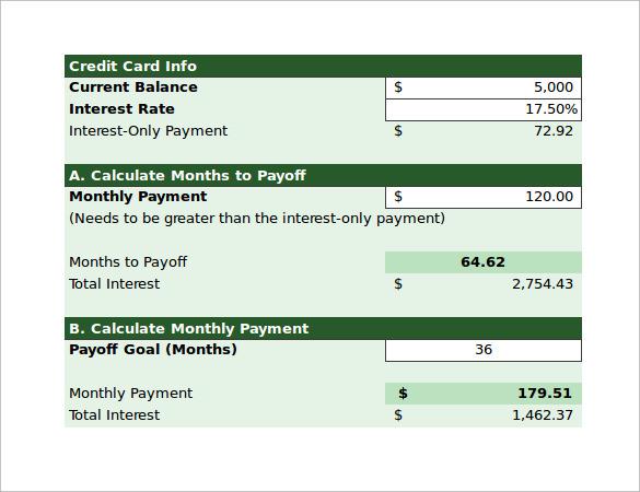 Calculator online credit