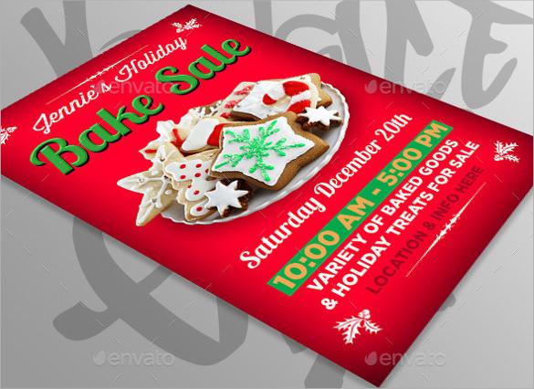 red coloured bake sale flyer1