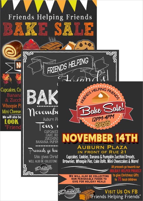 bake sale flyer samples