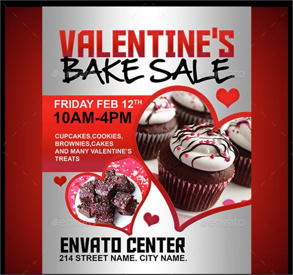 photoshop psd bake sale flyer