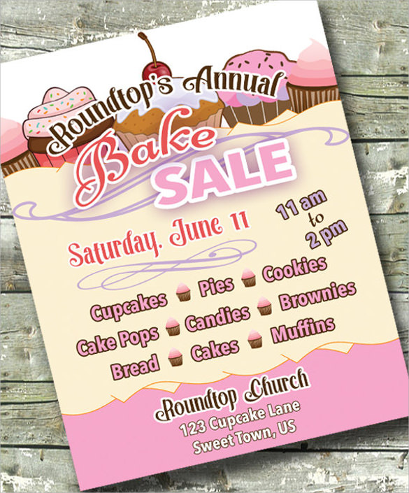 Bake Sale Flyer Template  Download In Vector Eps Psd