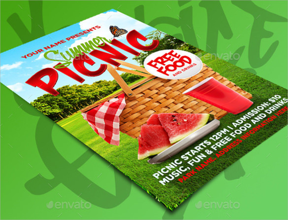 Picnic Flyer Template   Download In Vector Eps Psd
