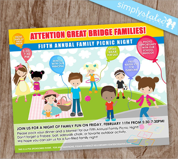 Amazing Picnic Flyer Template  Fun Poster Templates