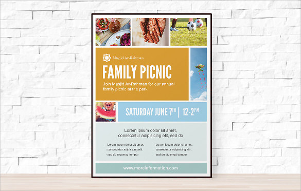 21  picnic flyer templates
