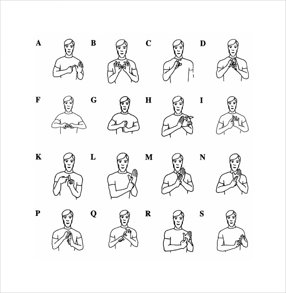 Free 9 Sample Sign Language Alphabet Chart Templates In Pdf Ms Word
