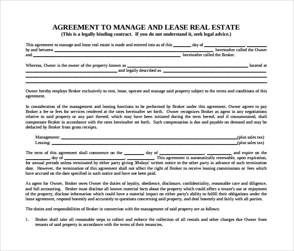 Sample Real Estate Rental And Lease Form - 8+ Download Free