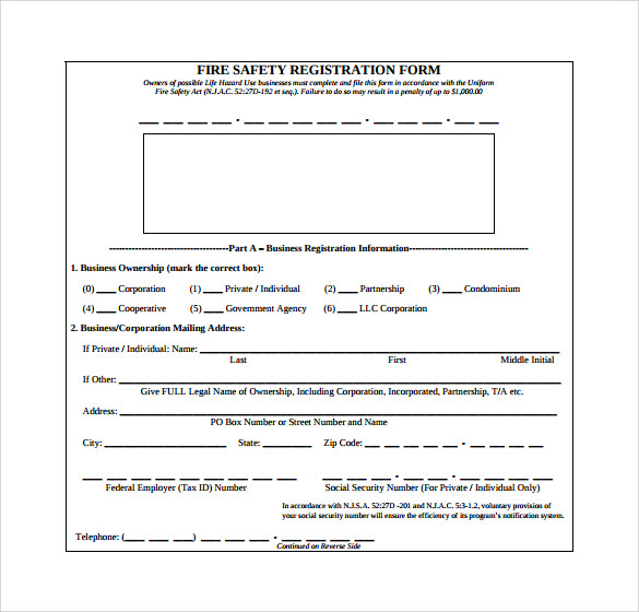 fire service safety application form