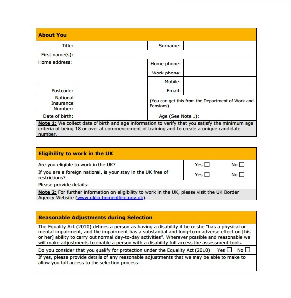 firefighter service application form