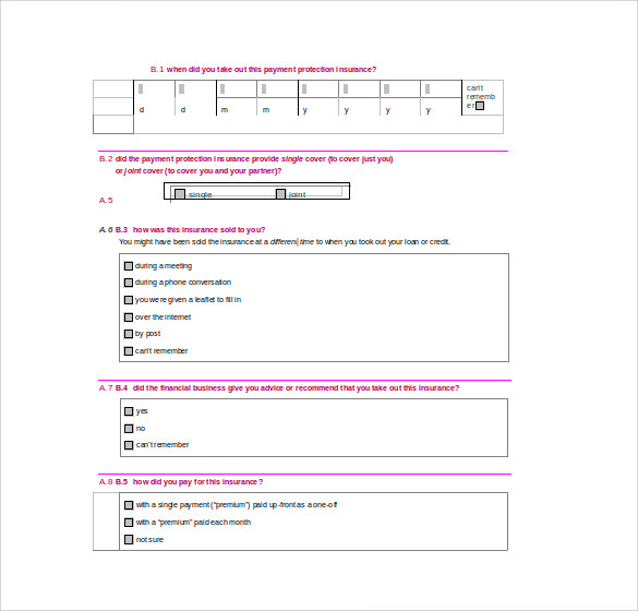 sample financial ombudsman service complaint form