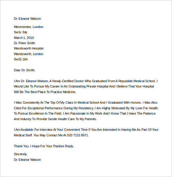 Sample Cover Letter Example 24 Download Free Documents