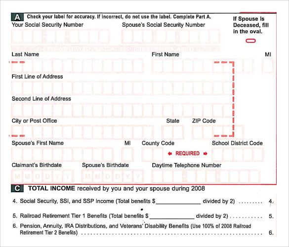 Sample Rent Rebate Form   Download Free Documents In Pdf