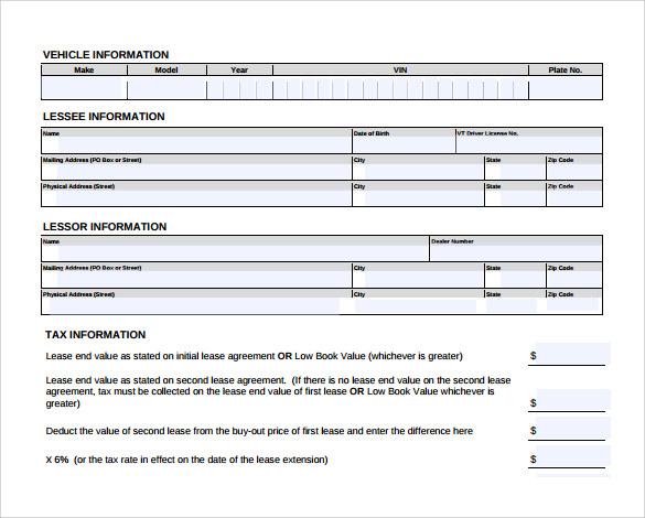 Sample Lease Extension Form 8 Download Free Documents in PDF – Lease Extension Agreement