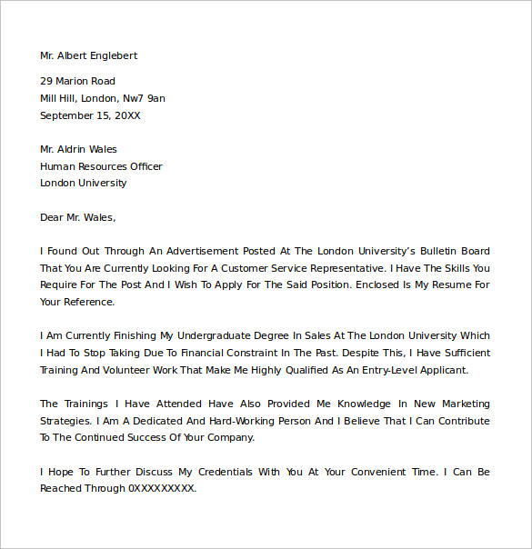 free 22  sample cover letter examples in ms word