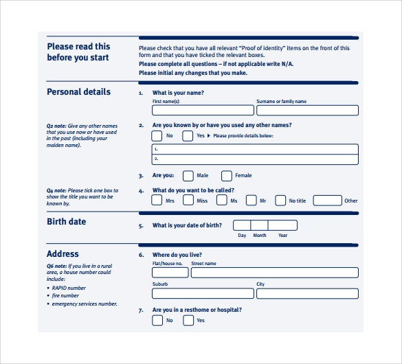 Sample Correctional Services Application Form - 9+ Download Free