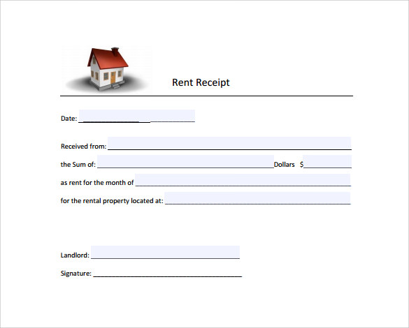 sample rent receipt form template