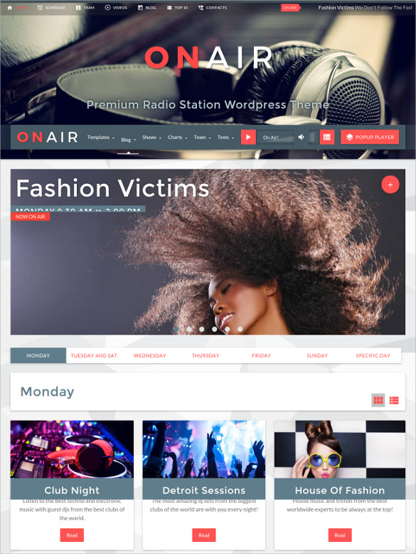 Radio Station WordPress Theme Free
