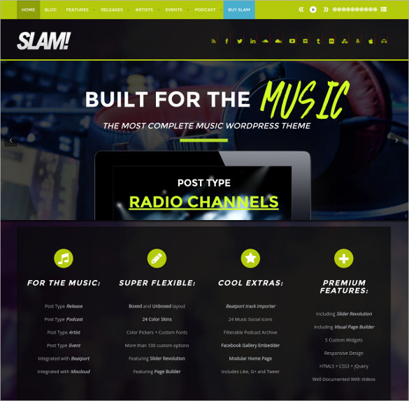 Radio Station Dj WordPress Theme - $59