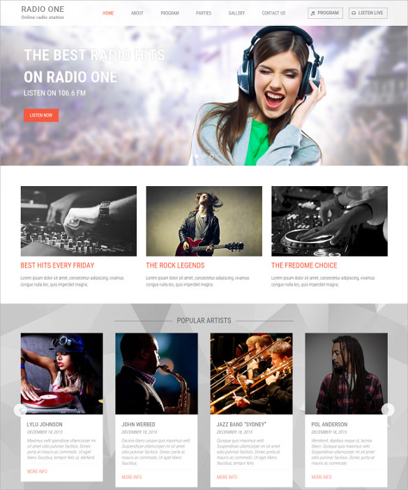 Online Radio Station WordPress Theme - $35