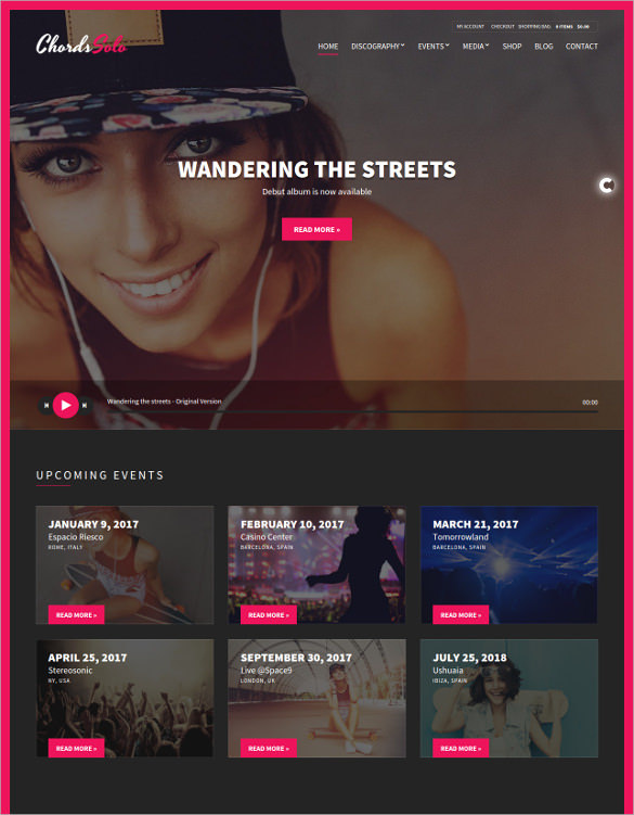 Music Artist Radio Station WordPress Theme - $59