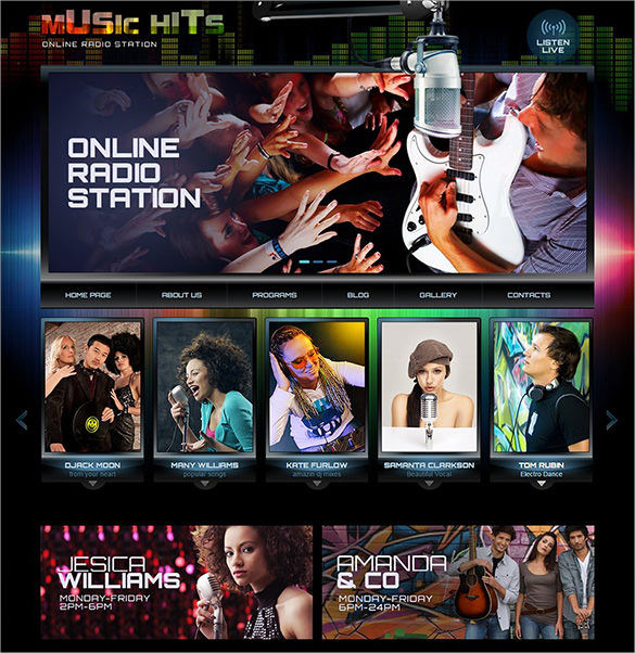 WordPress Online Radio Station Website Template – $46