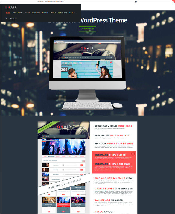Best Radio Station WordPress Theme
