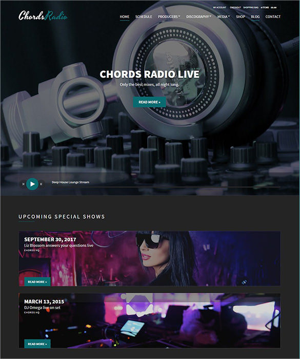 Radio WordPress Theme – $58