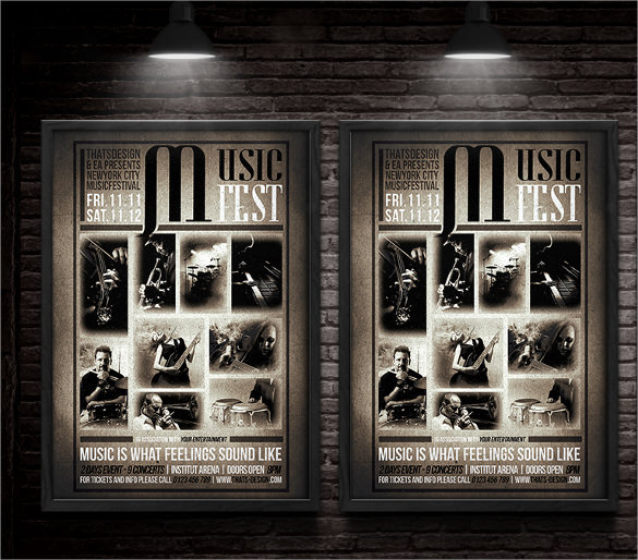 music festival flyer template free download